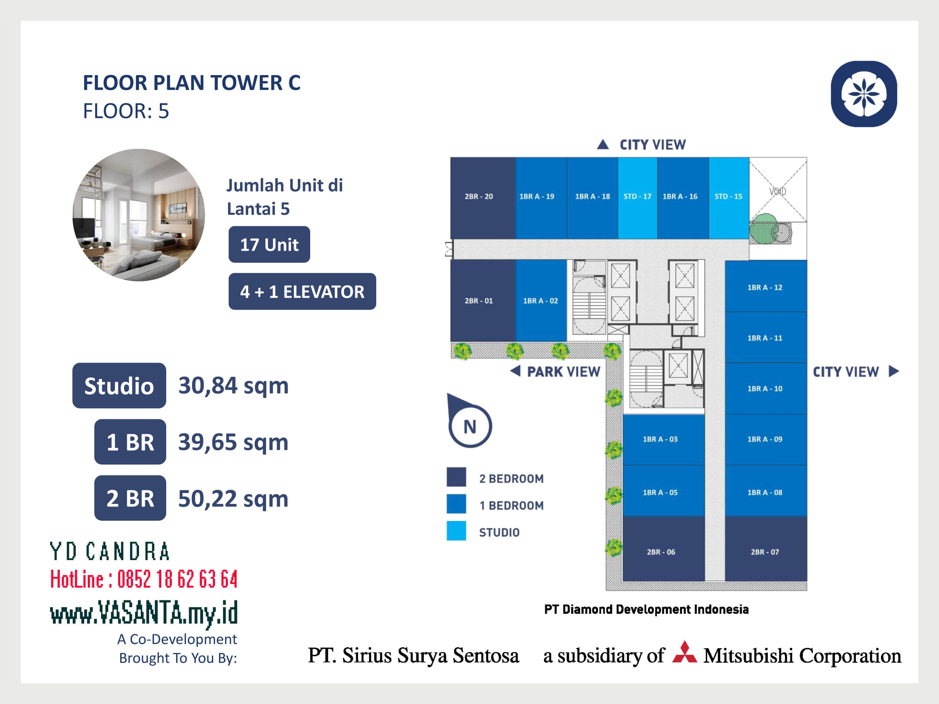 VASANTA Tower Chihana Floor Plan Tower C Floor 5