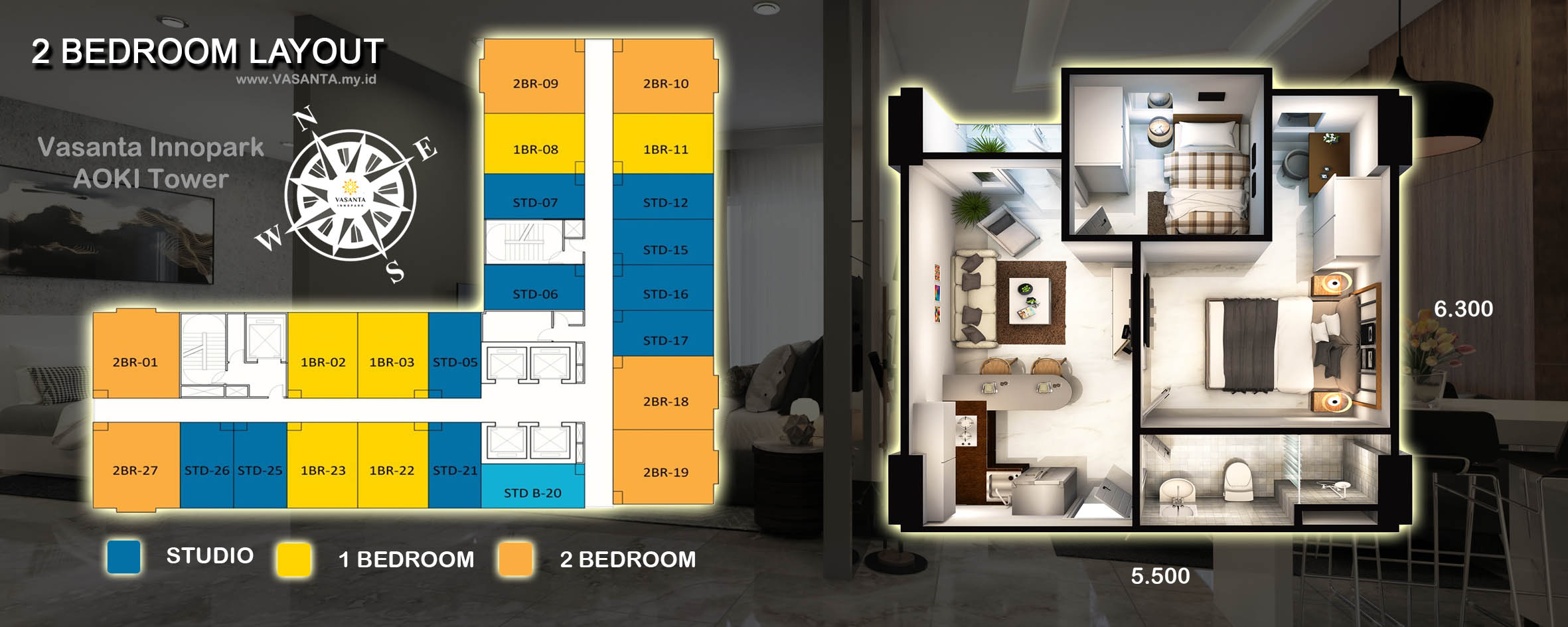 vasanta-innopark-tower-AOKI-type-2br-lay-out